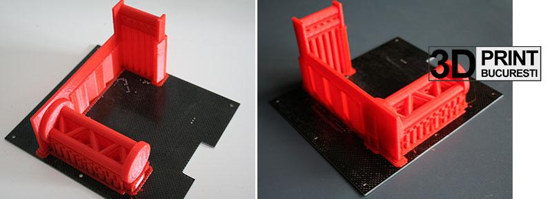 Obiectul printat cu suportul aferent