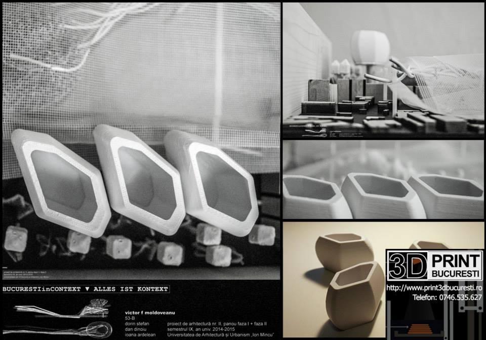 macheta structuri parametrice printare 3d
