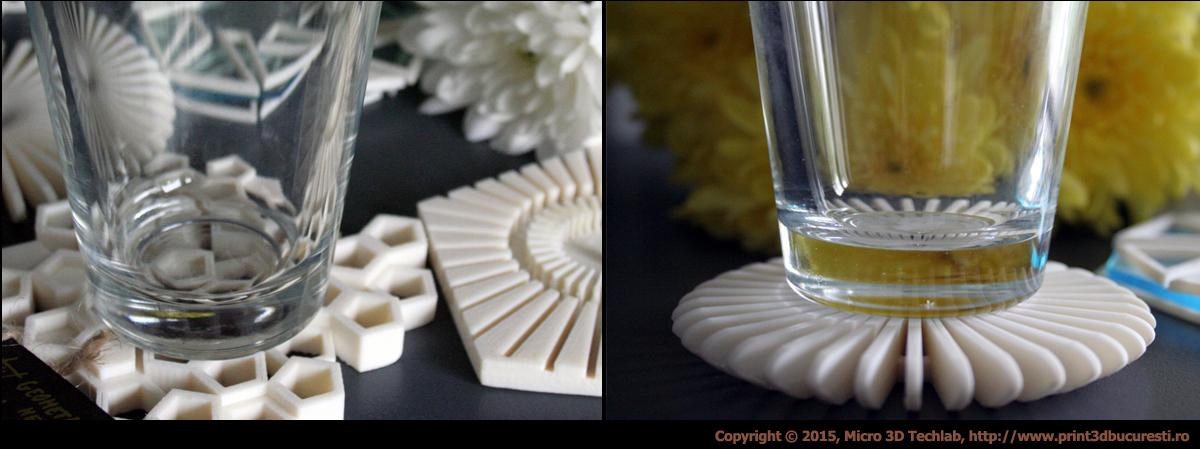 elegant glass coasters