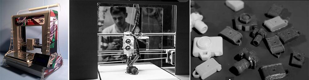 Prima imprimanta romaneasca - Volum 3D Arhitect