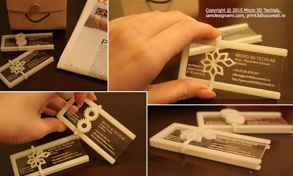 Carti de vizita printate 3D print 3D bucuresti