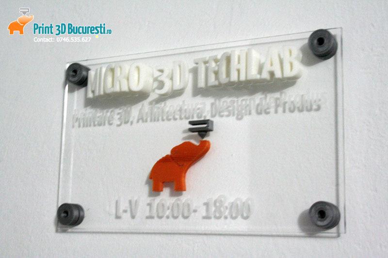 Debitare laser printare 3D placuta firma