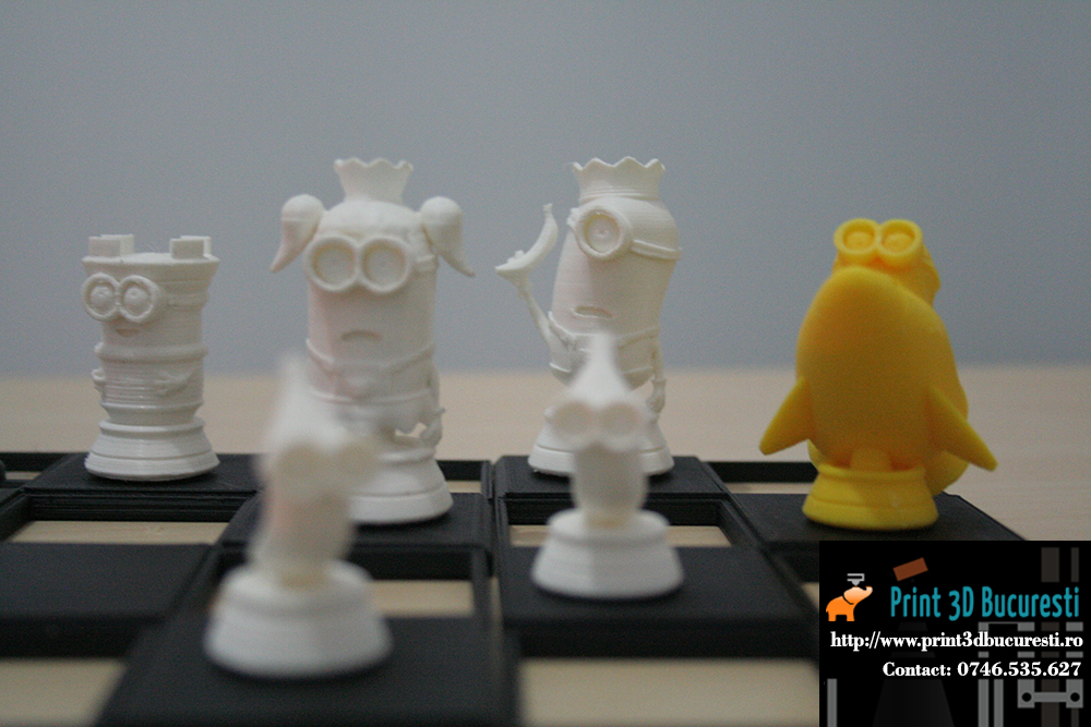 joc de sah minioni printati 3D