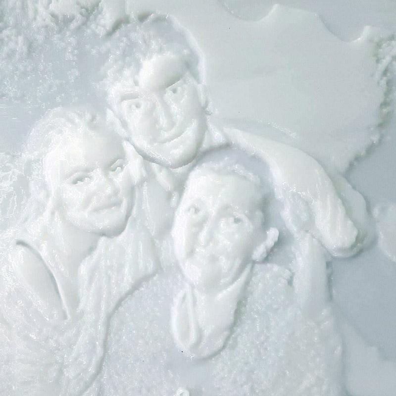 Portret in relief - Litofanie 3D