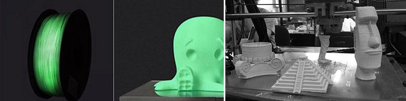 material printare 3D fosforescent piatra