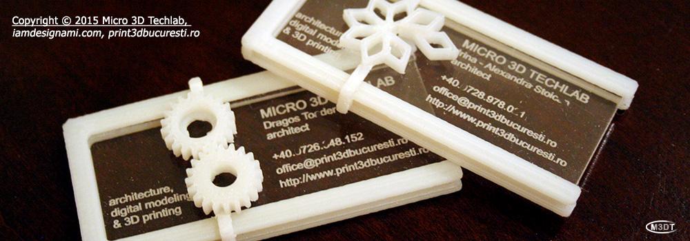Carti de vizita printate 3D.