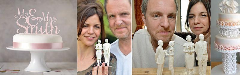 marturii nunta printare 3D figurine tort