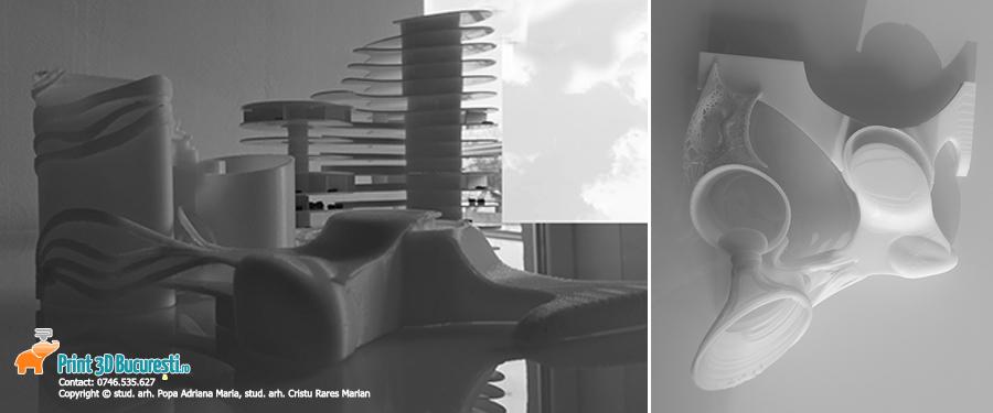macheta spital printata 3D