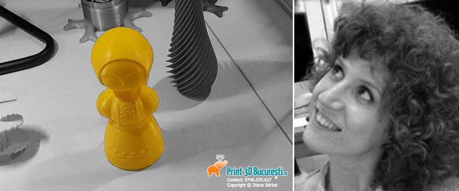 macheta papusa printata 3D
