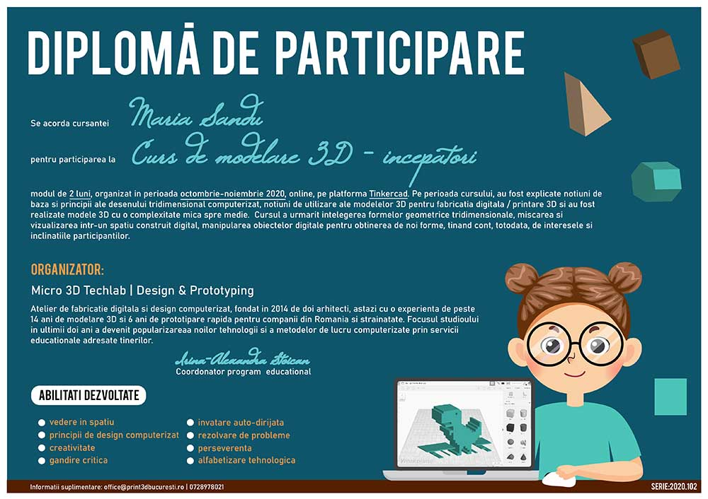 diploma curs modelare 3D